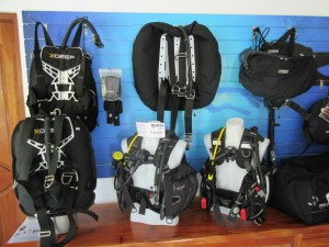 BCD's at Kasai Village Dive Shop
