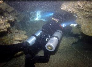 Cave diving at Kasai Village Dive Resort